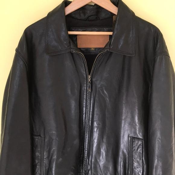 cbb7232af05 Timberland leather jacket | Black Leather coat. M_5c057b46f63eea2d80f46ff9